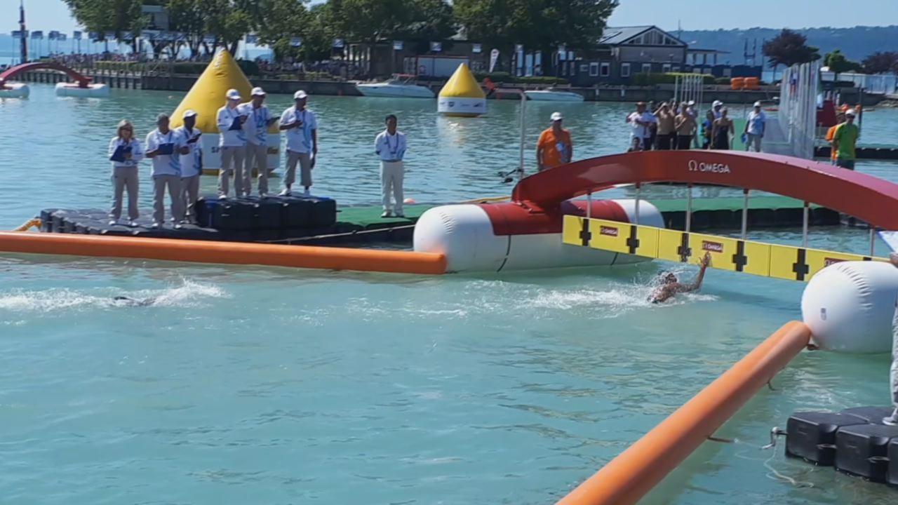 A magyar úszócsapat 7. helyen végzett az 5 km-es váltóversenyen