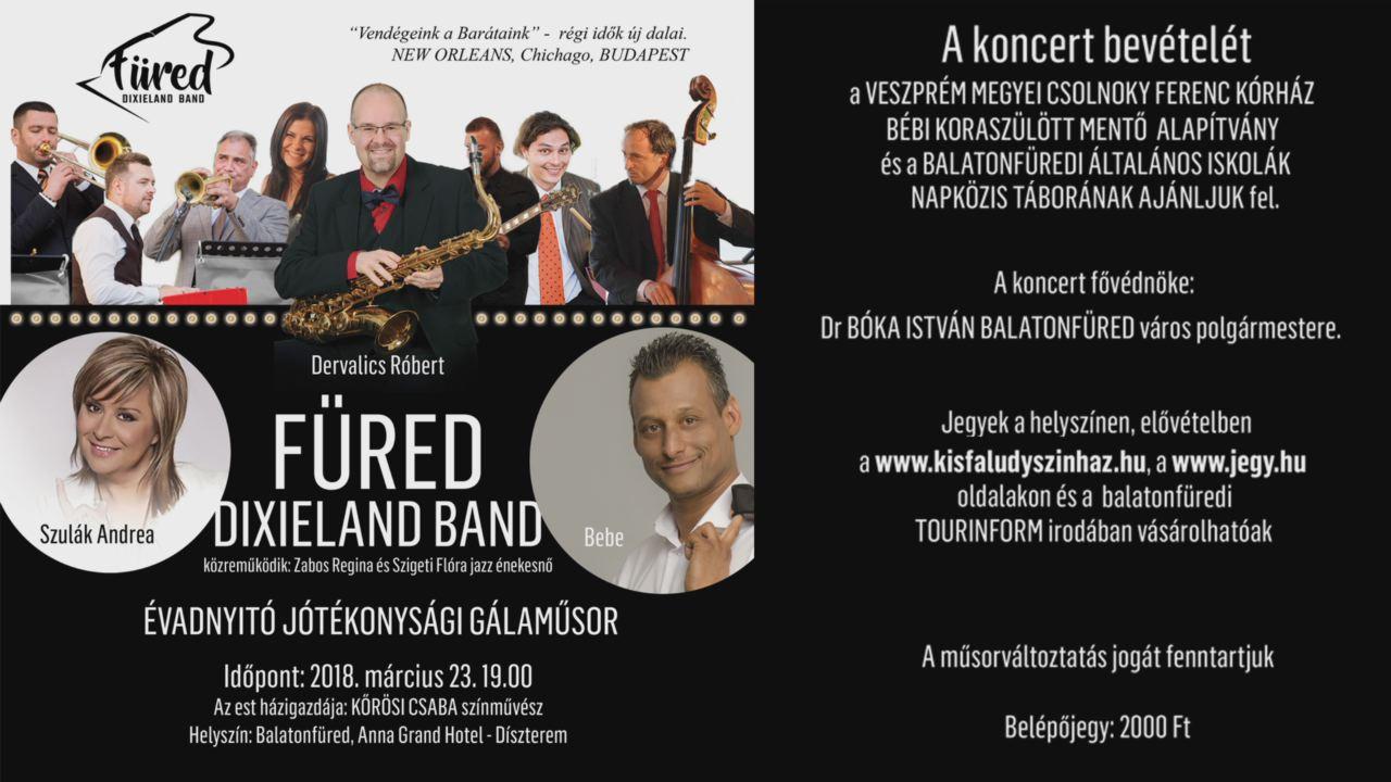 Jótékonysági koncertre készül a Füred Dixieland Band