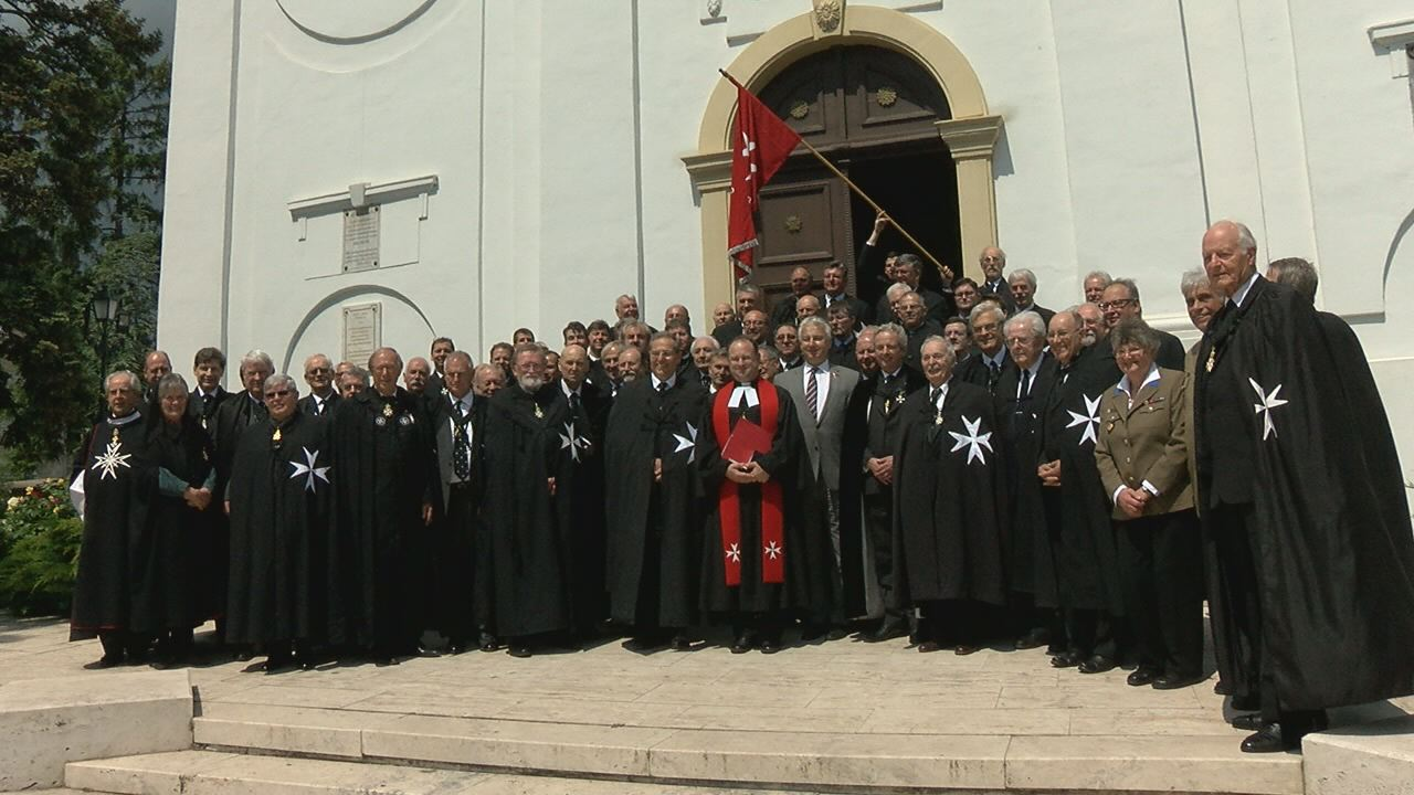 Száz Johannita lovag és legfőbb vezetőjük járt Füreden