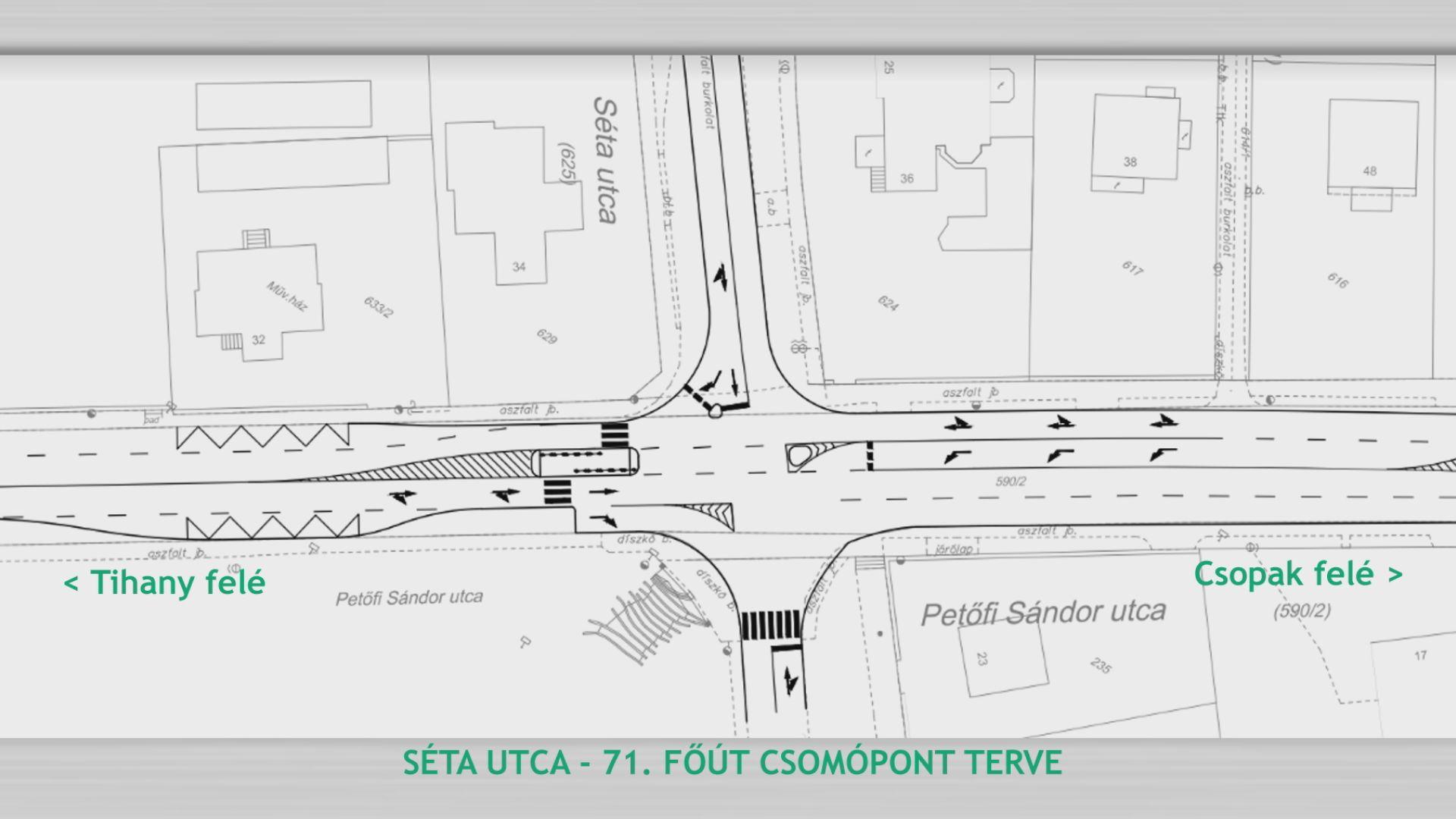 Ilyen lesz a Séta utcai új csomópont, további változások jönnek a városi közlekedésben