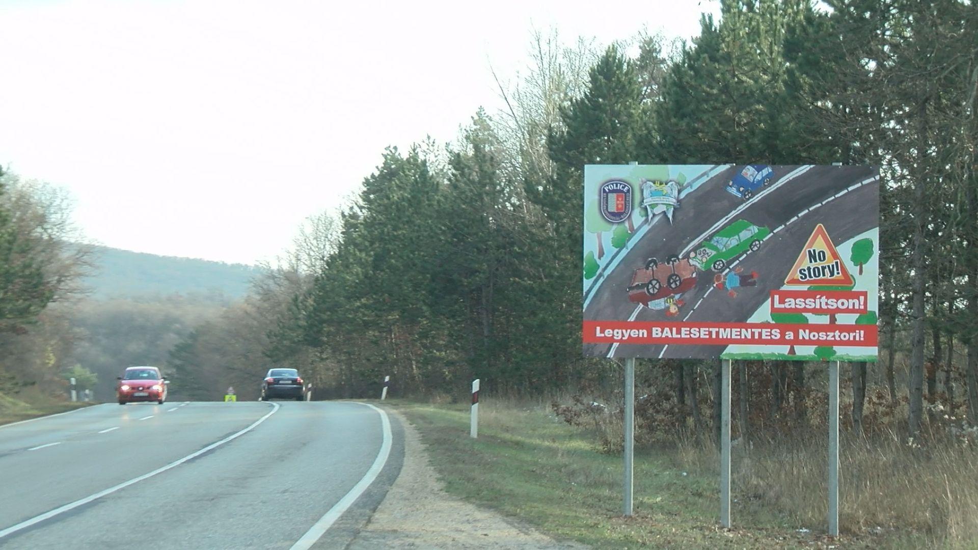 Balatonfüredi diák rajzával hívják fel az autósok figyelmét a Nosztori veszélyeire