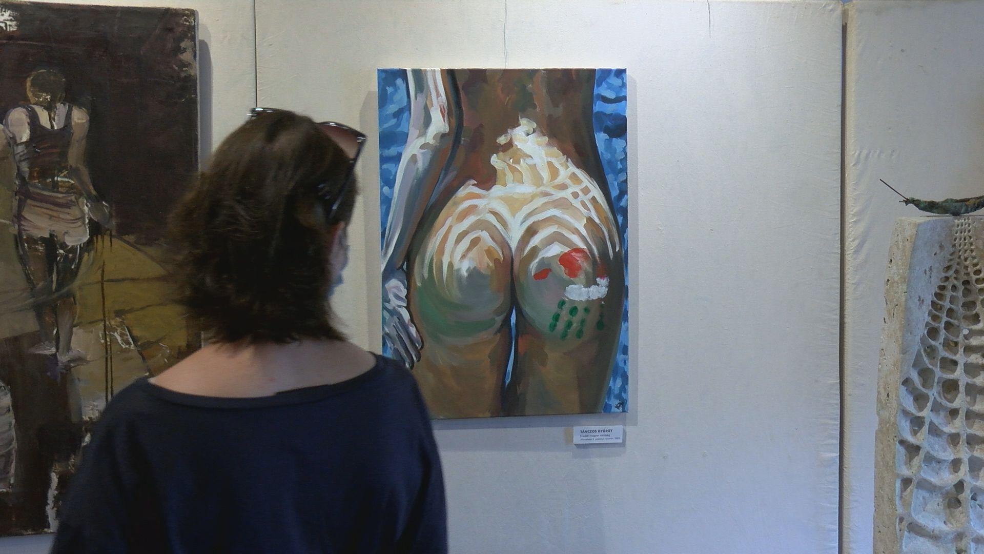 A mester és tanítványa, a Veszprémi Művész Céh kiállításán